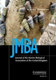 Journal of the Marine Biological Association of the United Kingdom Volume 96 - Issue 6 -