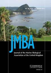 Journal of the Marine Biological Association of the United Kingdom Volume 96 - Issue 8 -