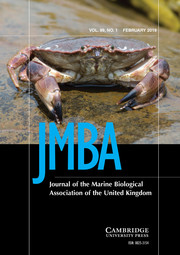 Journal of the Marine Biological Association of the United Kingdom Volume 99 - Issue 1 -