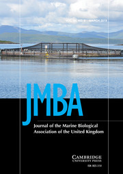 Journal of the Marine Biological Association of the United Kingdom Volume 99 - Issue 2 -