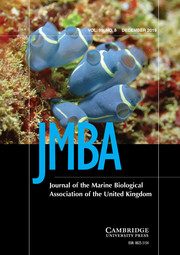 Journal of the Marine Biological Association of the United Kingdom Volume 99 - Issue 8 -
