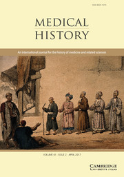 Medical History Volume 61 - Issue 2 -