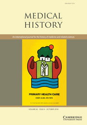 Medical History Volume 62 - Issue 4 -