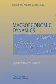 Macroeconomic Dynamics Volume 14 - Issue 3 -