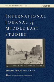 International Journal of Middle East Studies Volume 46 - Issue 4 -  World War I