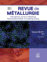 Metallurgical Research & Technology Volume 109 - Issue 1 -