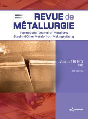Metallurgical Research & Technology Volume 110 - Issue 2 -