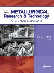 Metallurgical Research & Technology Volume 111 - Issue 3 -  Social Value of Materials (SAM 7)