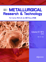 Metallurgical Research & Technology Volume 111 - Issue 4 -