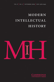 Modern Intellectual History Volume 6 - Issue 3 -