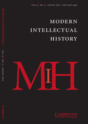 Modern Intellectual History Volume 9 - Issue 2 -
