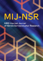 Materials Research Society Internet Journal of Nitride  Semiconductor Research