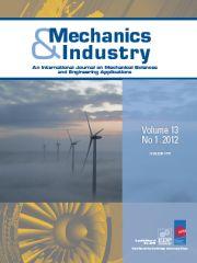 Mechanics & Industry Volume 13 - Issue 1 -
