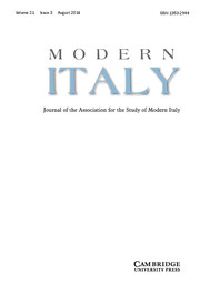 Modern Italy Volume 21 - Issue 3 -