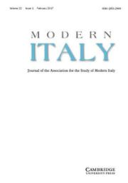 Modern Italy Volume 22 - Issue 1 -