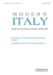 Modern Italy Volume 24 - Issue 2 -  Special Issue: The Difficult Heritage of Italian Fascism