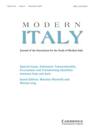 Modern Italy Volume 24 - Special Issue4 -  Italianerie: Transculturality, Co-creation and Transforming Identities between Italy and Asia