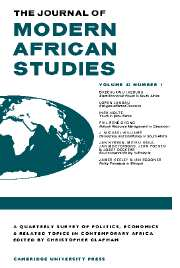 The Journal of Modern African Studies Volume 42 - Issue 1 -