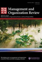 Management and Organization Review Volume 11 - Issue 1 -  Special Issue Behavioral Ethics, Organizational Justice, and Social Responsibility
