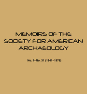 Memoirs of the Society for American Archaeology
