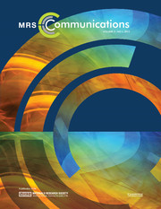 MRS Communications Volume 3 - Issue 1 -