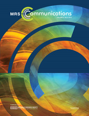 MRS Communications Volume 8 - Issue 2 -