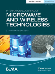 International Journal of Microwave and Wireless Technologies Volume 9 - Special Issue8 -  Biomedical Applications of RF/Microwave and Optics Technologies