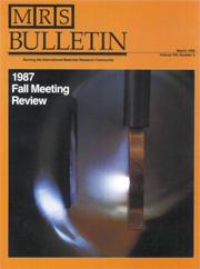 MRS Bulletin Volume 13 - Issue 3 -