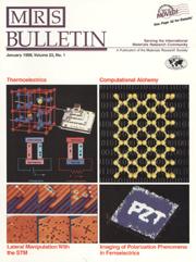 MRS Bulletin Volume 23 - Issue 1 -