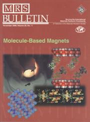 MRS Bulletin Volume 25 - Issue 11 -  Molecule-Based Magnets
