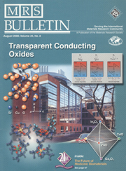 MRS Bulletin Volume 25 - Issue 8 -  Transparent Conducting Oxides