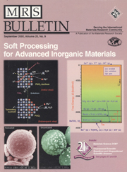 MRS Bulletin Volume 25 - Issue 9 -  Soft Processing for Advanced Inorganic Materials