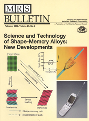 MRS Bulletin Volume 27 - Issue 2 -  Science and Technology of Shape-Memory Alloys: New Developments
