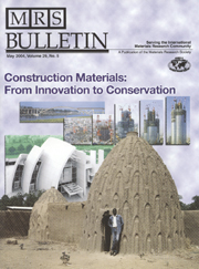 MRS Bulletin Volume 29 - Issue 5 -  Construction Materials: From Innovation to Conservation