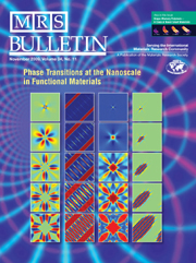 MRS Bulletin Volume 34 - Issue 11 -  Phase Transitions at the Nanoscale in Functional Materials