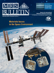 MRS Bulletin Volume 35 - Issue 1 -  Materials Issues in the Space Environment
