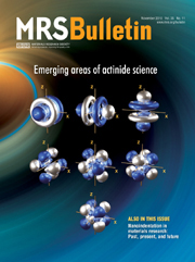 MRS Bulletin Volume 35 - Issue 11 -  Emerging areas of actinide science