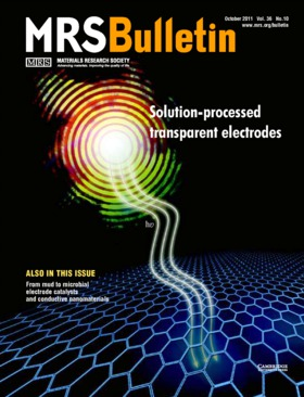 MRS Bulletin Volume 36 - Issue 10 -  Solution-processed transparent electrodes