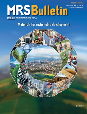 MRS Bulletin Volume 37 - Issue 4 -  Materials for sustainable development