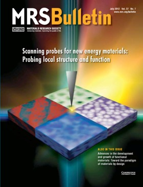 MRS Bulletin Volume 37 - Issue 7 -  Scanning probes for new energy materials: Probing local structure and function