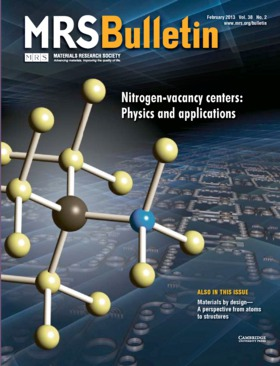 MRS Bulletin Volume 38 - Issue 2 -  Nitrogen-vacancy centers: Physics and applications