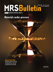 MRS Bulletin Volume 42 - Issue 10 -  Materials Under Pressure
