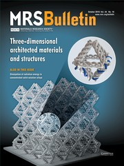 MRS Bulletin Volume 44 - Issue 10 -  Three-Dimensional Architected Materials and Structures