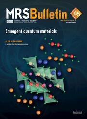 MRS Bulletin Volume 45 - Issue 5 -  Emergent Quantum Materials