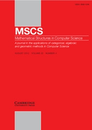 Mathematical Structures in Computer Science Volume 22 - Issue 4 -