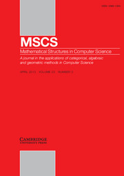 Mathematical Structures in Computer Science Volume 23 - Issue 2 -  Developments In Computational Models 2010