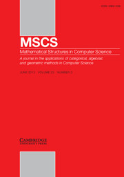 Mathematical Structures in Computer Science Volume 23 - Issue 3 -