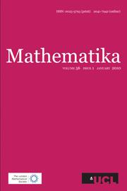 Mathematika Volume 56 - Issue 1 -