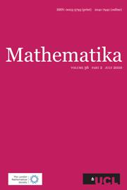 Mathematika Volume 56 - Issue 2 -