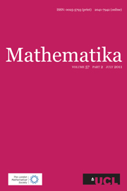 Mathematika Volume 57 - Issue 2 -
